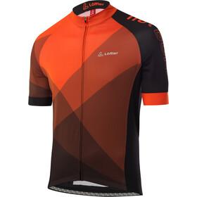 Löffler hotBOND Full-Zip Bike Jersey Men, oranje